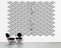 Contemporary wallpaper / monochrome / geometric / printed