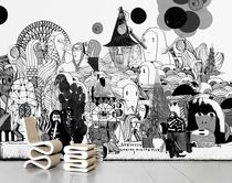 Contemporary wallpapers / art print / white / printed