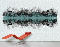 Contemporary wallpaper / multi-color / urban motif / nature pattern