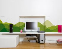 Contemporary wallpapers / nature pattern / green / non-woven