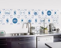 Contemporary wallpapers / patterned / blue / non-woven