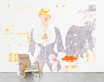 Contemporary wallpaper / multi-color / sketch / non-woven