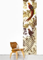 Nature pattern wallpaper / animal motif / paper / contemporary