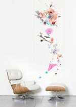 Contemporary wallpaper / multi-color / sketch / printed