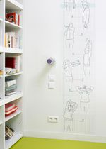 Contemporary wallpaper / sketch / text / non-woven
