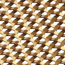 Interior fitting woven wire fabric / for partition walls / brass / copper