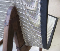 Furniture woven wire fabric / stainless steel / brass / copper