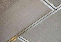 Ceiling woven wire fabric / stainless steel / dense mesh