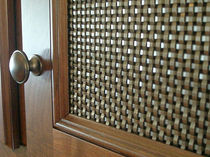 Interior fitting woven wire fabric / for partition walls / bronze / brass