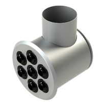 Ceiling air diffuser / wall-mounted / round / multi-nozzle