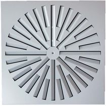 Ceiling air diffuser / square / helical