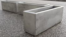 Fiber cement planter / rectangular / custom / contemporary