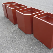 Fiber cement planter / contemporary / for public spaces
