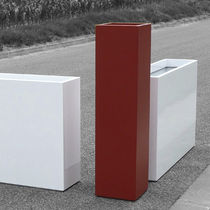 Fiber cement planter / square / rectangular / contemporary