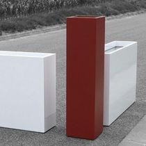 Fiber cement planter / square / rectangular / contemporary