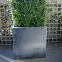 Fiber cement planter / zinc / square / rectangular
