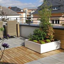 Fiber cement planter / square / rectangular / custom