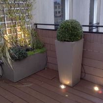 Fiber cement planter / square / contemporary / for public spaces