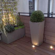 Fiber cement planter / square / contemporary / for public spaces