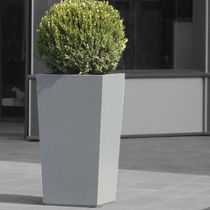 Fiber cement planter / square / custom / contemporary