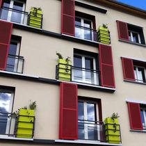 Stone planter / square / contemporary / for public spaces