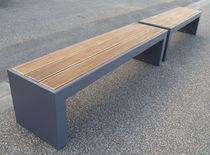 Public bench / garden / contemporary / sheet steel