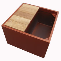 Wooden planter / fiber cement / rectangular / square