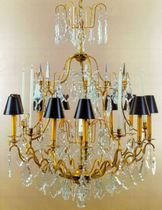 Classic chandelier / crystal / incandescent