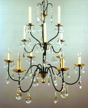 Traditional chandelier / crystal