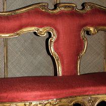 Upholstery fabric / plain / linen / viscose