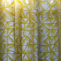 Curtain fabric / patterned / viscose / silk