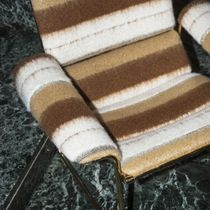 Upholstery fabric / striped / polyester / wool