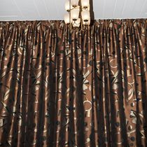 Curtain fabric / patterned / polyester / cotton