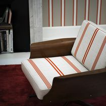 Curtain fabric / upholstery / striped / Trevira CS®