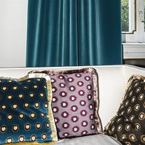Curtain fabric / upholstery / patterned / cotton