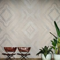 Contemporary wallpaper / fabric / geometric pattern