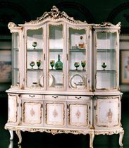 Classic china cabinet / wooden / glass