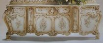 Louis XV style sideboard / wooden / white / brown