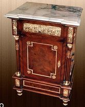 Louis XV style bedside table / wooden / metal / marble