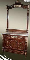 Baroque style dressing table / wooden / metal / marble