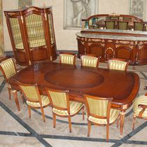 Louis XV style dining table / wooden / glass / rectangular