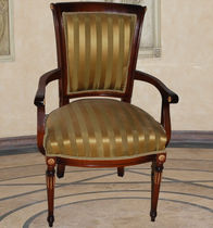 Louis XV style chair / upholstered / with armrests / fabric