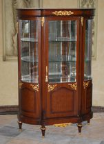 Louis XV style display case / glass / wooden