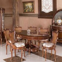 Louis XV style dining table / wooden / oval / extending