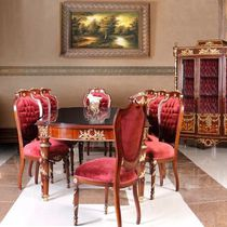 Louis XV style dining table / wooden / oval