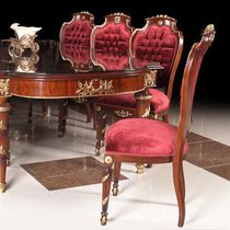 Louis XV style chair / fabric / wooden