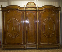 Louis XV style wardrobe / wooden / with hinged door