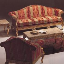 Louis XV style sofa / fabric / wooden / 3-seater