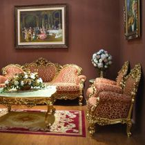 Louis XIV style armchair / fabric / wooden