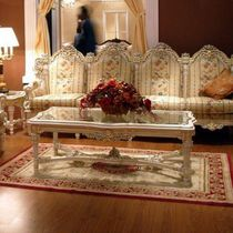 Louis XV style coffee table / wooden / rectangular
